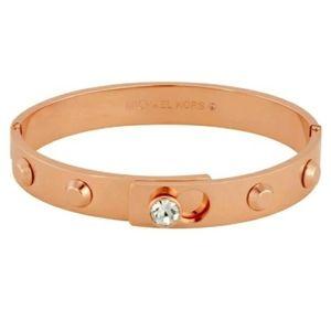 Michael Kors Rose Gold Bangle Stud Bracelet *RARE*